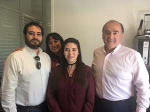 De izquierda de derecha: Sebastián Sánchez, Daniela Pauppein, Camila Cartes, Cristian Ramírez
